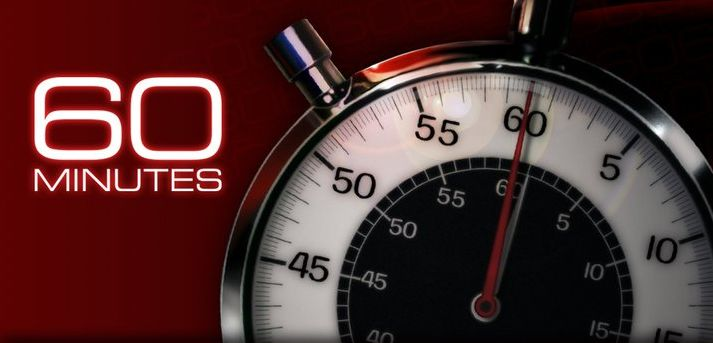 We're On 60 Minutes!