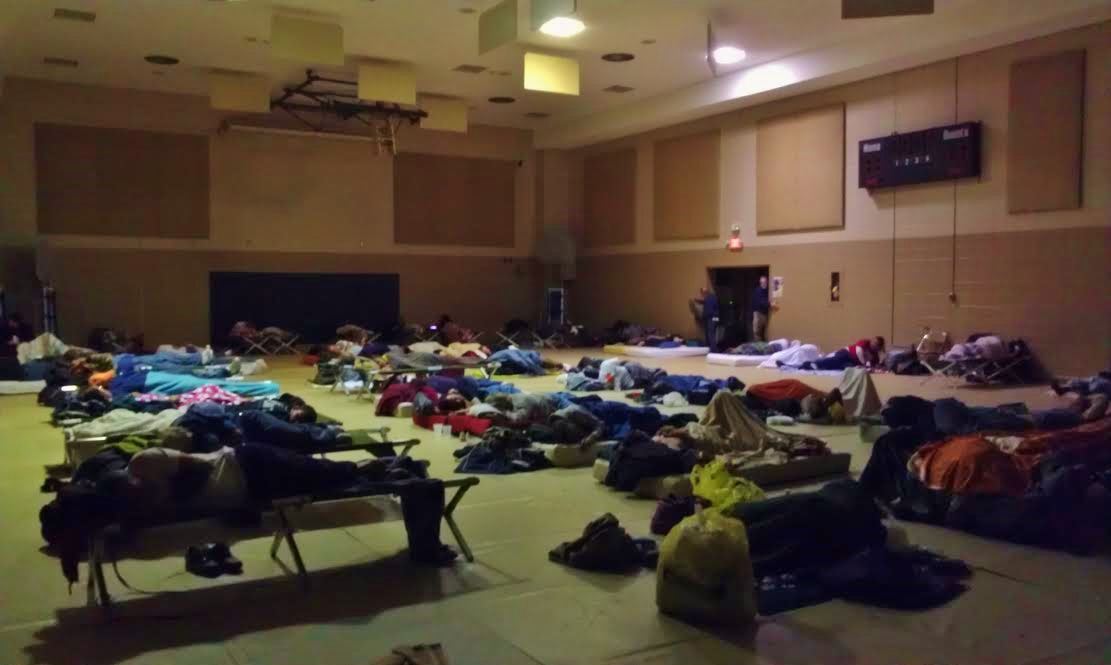 Emergency Warming Shelter At First Church With Over 70 Guests, 11.24